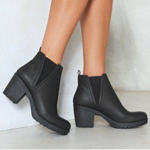 Nasty Gal Chunky Platform Ankle Boots